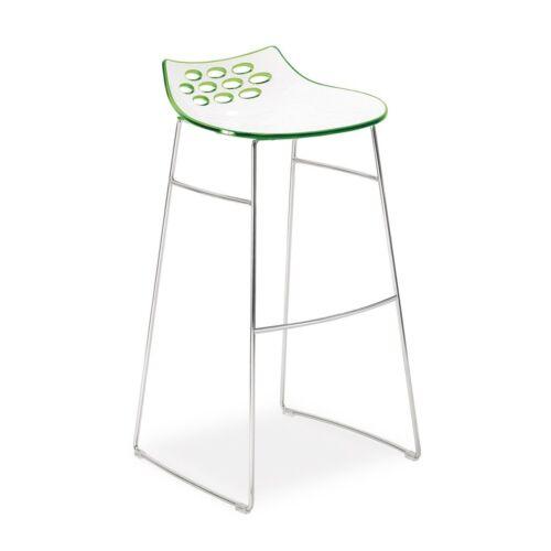 Calligaris JAM Tabouret de bar design Lounge chrome Sleigh jambes Tabouret RRP £ 195 Vente