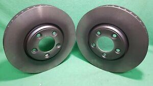 Front 300 mm Brake Disc Rotors and Ceramic Pads For 2003 2004 JAGUAR S TYPE