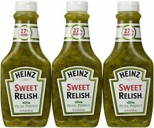 Heinz Sweet Relish 375ml Squeezy Bottle (Pack of 3)