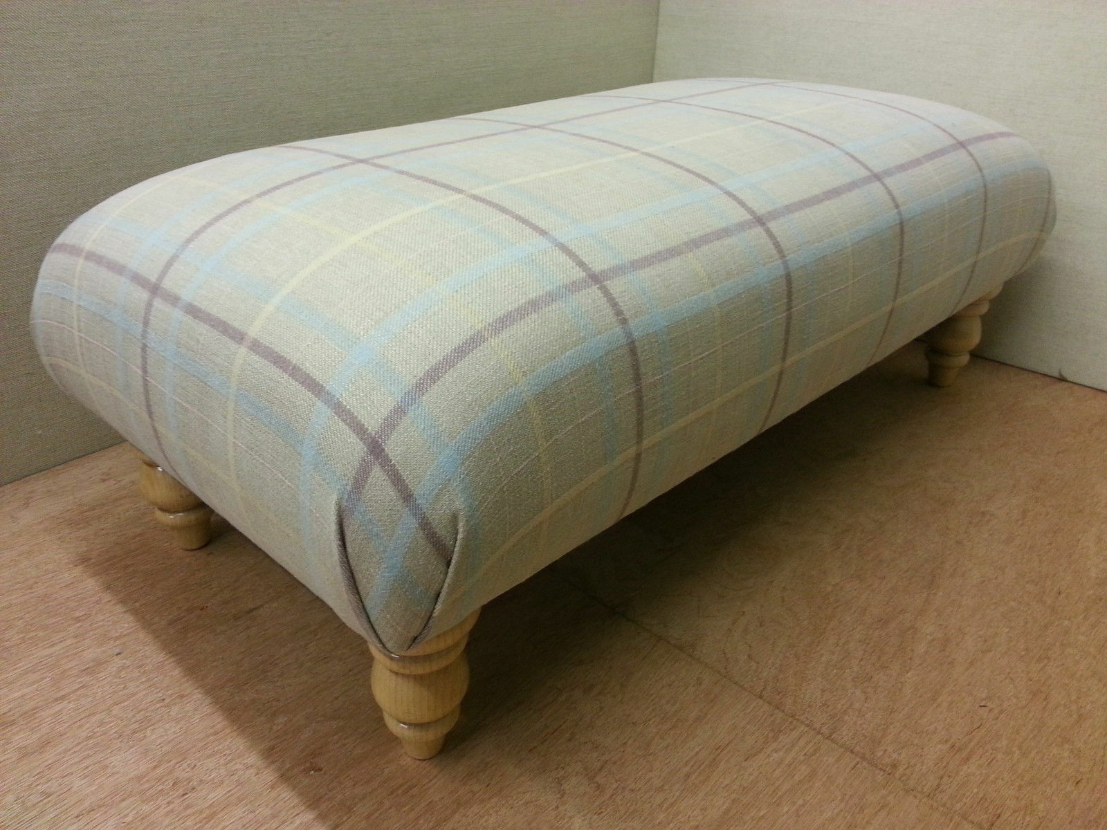 New Luxury Handmade Footstool   Table - Laura Ashley Keynes Fabrics. 5 Colours