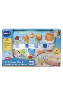 Details about VTech Lil' Critters Play and Dream Musical Piano Baby Girl /  Boy Toy Music Song