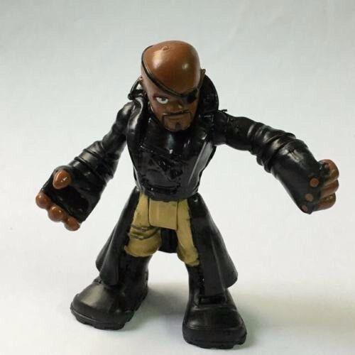 """Nick Fury Playskool Marvel Super Hero Squad Adventures 2.5/"""" figure hasbro toy"""