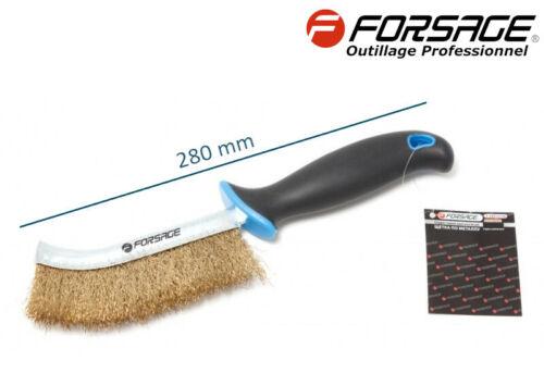 Brosse métallique de nettoyage LAITON longueur 280 mm Professionnel FORSAGE