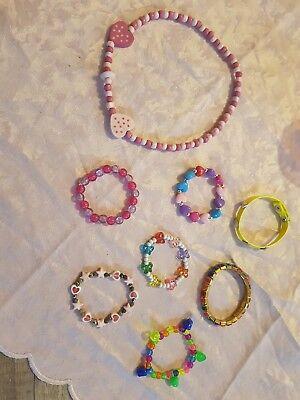 Erfinderisch 1× Mädchen Halskette Und 7× Armbänder