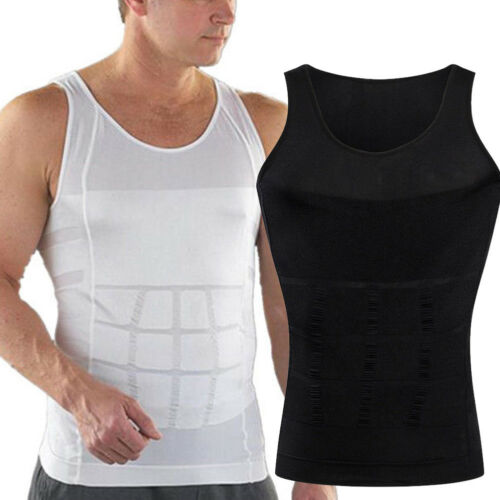 Men/'s Slim Tummy Belly Body Shaper Compression Trainer Vest Underwear Shapewear