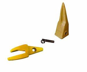 """1 - CAT Style J200 Backhoe Bucket Shank 1"""" Lip, Rock Tooth, 1U-3202TL, 119-3204"""