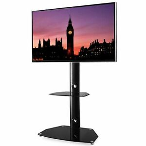 Details About Floor Corner 3 In 1 Tv Stand Media Towers Monitor 27 To 55 Inch Lcd Led Black