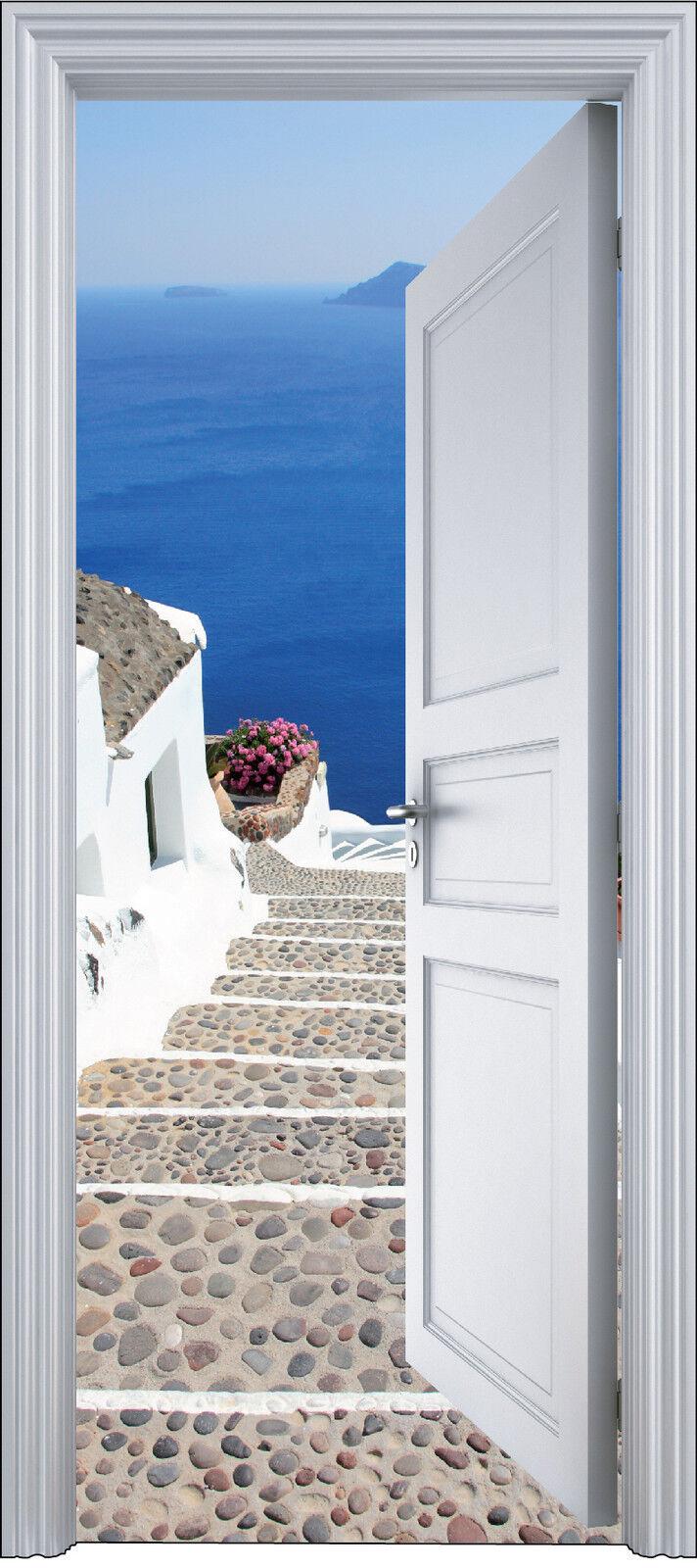 Aufkleber Tür Schein Auge Deko Treppe 90x200 cm Ref 2107