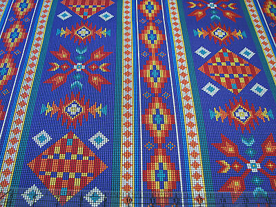 3 Yards Quilt Cotton Fabric- Elizabeth's Studio Tucson Native Beaded Stripe Ppl