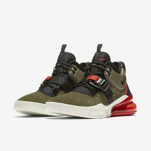 Nike Air Force 270 Mens Size 8.5 Medium Olive Green shoes orange AH6772 200