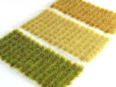 266 SMALL Self-Adhesive 6mm Tufts UK Quality w V Fast US S/&H! ARID GRASS SET #1