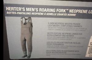 Herter's Roaring Fork Neoprene Lug Sole Waders Sz 11 Men/'s New in Box