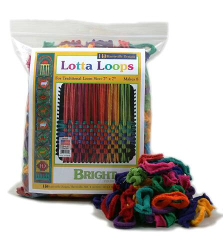 "7/"" Bright Lotta Loops 8 Potholders Traditional Loom 100/% Cotton Assorted Color"