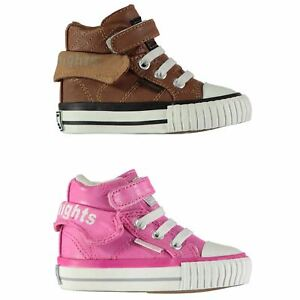 633e37e1e Image is loading British-Knights-Roco-Trainers-Infant-Girls-Shoes-Footwear