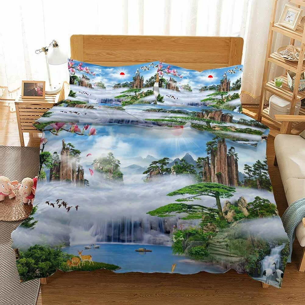 verde Pine Cypress 3D Printing Duvet Quilt Doona Covers Pillow Case Bedding Sets