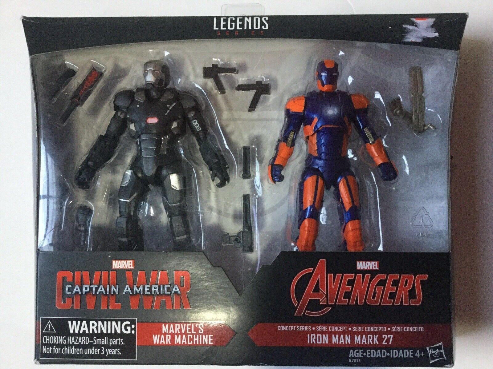 Milagro legendario máquina de guerra y Iron Man