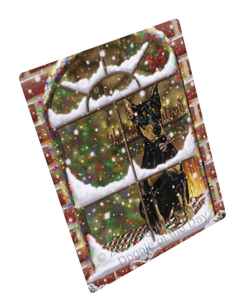 Come Home For Christmas Doberman Pinschers Dog Woven Throw Sherpa Blanket T253