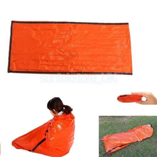Orange Emergency Sleeping Bag Blanket for Outdoor Camping Survival Disaster