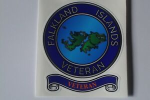 "FALKLAND ISLANDS  VETERAN  STICKERS X 2  BRITISH ARMED FORCES  4.5 "" APP    UK"