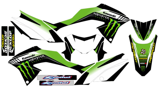 170904 monster kawasaki klx 150 bf 2017 decals stickers graphics kit