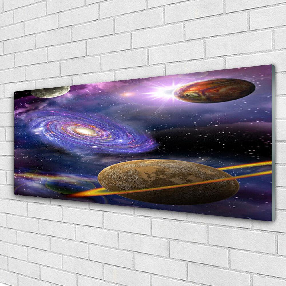 Tableau murale Impression sous verre 125x50 Univers Univers