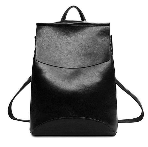 Women s School Bag Leather Backpack Bookbag Rucksack Satchel Travel Bags  Black 2704d12610