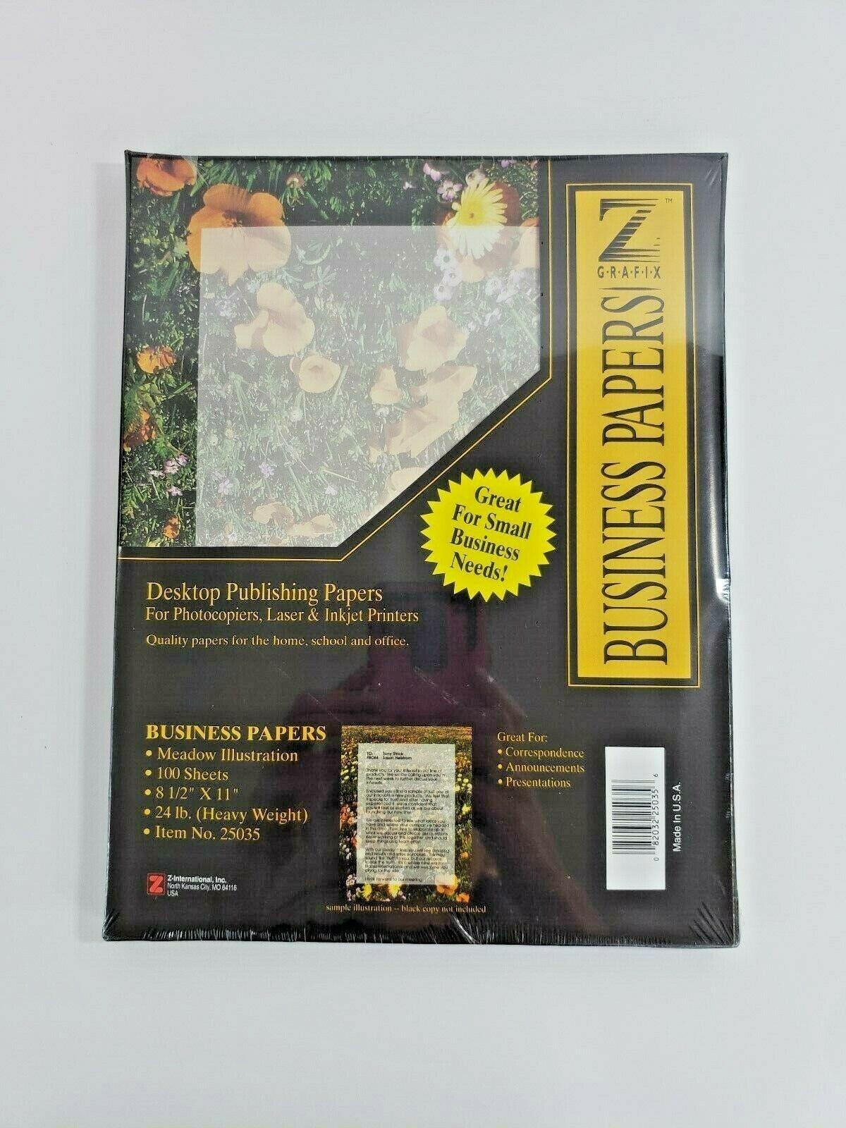 Z Grafix Desktop Publishing Paper 100 Sheets Gradated Design 8 1 2 X 11 Flower For Sale Online