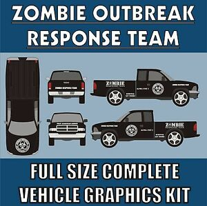 ZOMBIE OUTBREAK RESPONSE TEAM FULL VEHICLE DECAL KIT-13 ...
