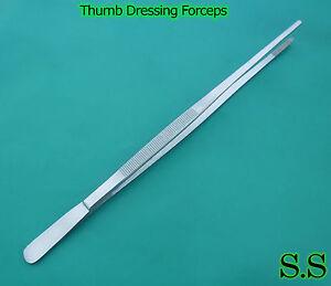 "5 PCS Thumb Dressing Forceps 18"" 1 PCS 24"" CVD TIP TWZ"