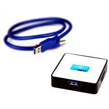 Dynamode Super-Speed Multi-formato USB3.0 lector de tarjetas de memoria escritor, Blanco