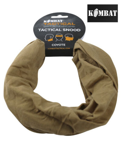 Mens Army Combat Military Snood Neck Scarf Sniper Veil Shemagh Hat Desert Cayote