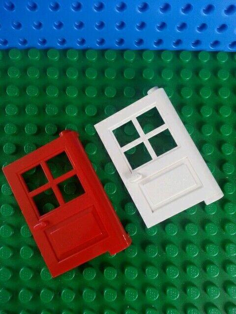 Lego X2 White Tuxedo Suit Jacket With Red Flower Pattern Mini Figure Torso Parts