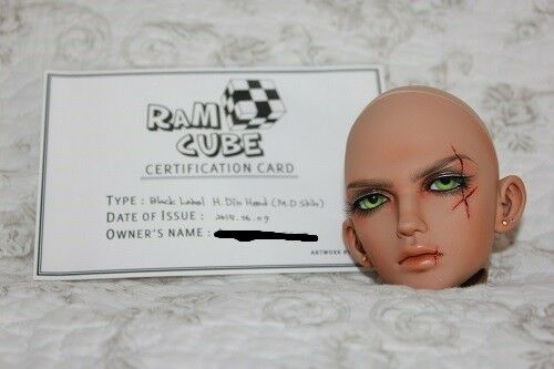 RamCube H.Din Head - SD BJD - Legit - MD skin - default Face up