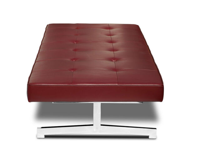 Miraculous Bauhaus Daybed Base Polished Steel Covered With Real Leather Bordeaux Wine Red Uwap Interior Chair Design Uwaporg