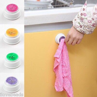 Hot Bathroom Towel Wash Cloth Clip Holder Storage Rack Kitchen Storage Hook Rack