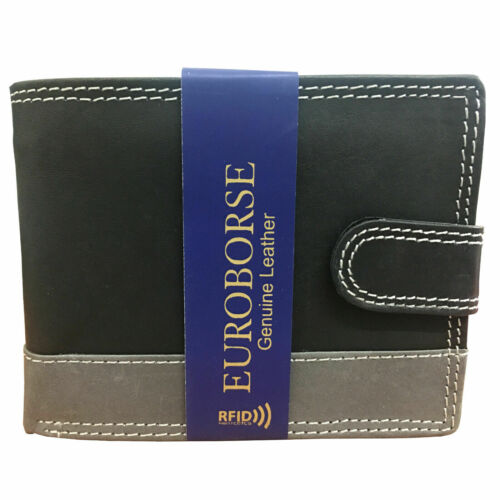 Mens Leather Wallet Luxury Soft Quality Credit Card Holder Genuine Leather Purse