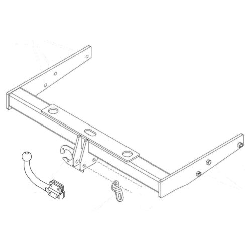 Towbar for Volkswagen Caravelle T5 2010-2015 Swan Neck Tow Bar