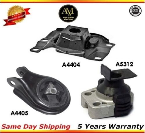 Transmission Motor Mounts Front Right Rear Set Kit 2.0 L For Mazda 3