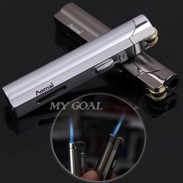 Cylinder Flint Wheel Windproof Jet Flame Cigarette Cigar Fill Butane Gas Lighter