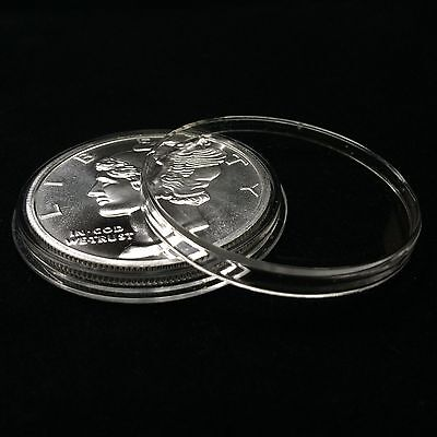 Air-Tite Holders 39mm Black Ring 5 Pack Silver /& Copper Rounds Coin Capsules