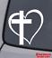 CROSS-HEART-Vinyl-Decal-Sticker-Car-Window-Wall-Bumper-Jesus-God-Heart-Love thumbnail 1