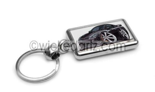 RetroArtz Cartoon Car Nissan R35 GT-R in Black Premium Metal Key Ring