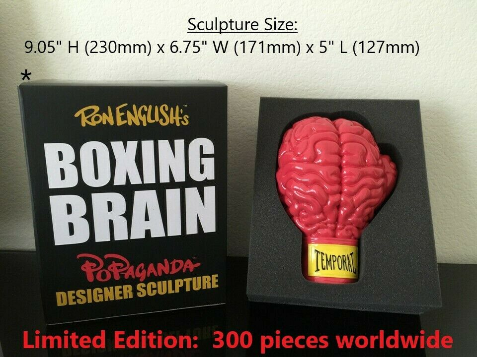 KIDROBOT Red Boxing Brain  by Ron English Popaganda ONLY 300 PIECES WORLDWIDE