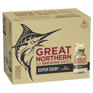 Great Northern Super Crisp Lager Beer 30 x 375mL Cans