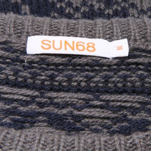 Uomo 1042v Wool Men Lana 68 Maglione grey Blue Sweater Sun 5wSaPq