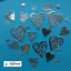 Filigree Hearts Die Cuts for Valentines Cardmaking Assorted packs of 25 pcs