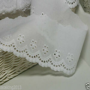 2.5cm YH1222 laceking2013 14Yds Broderie Anglaise cotton eyelet lace trim 1.1/""