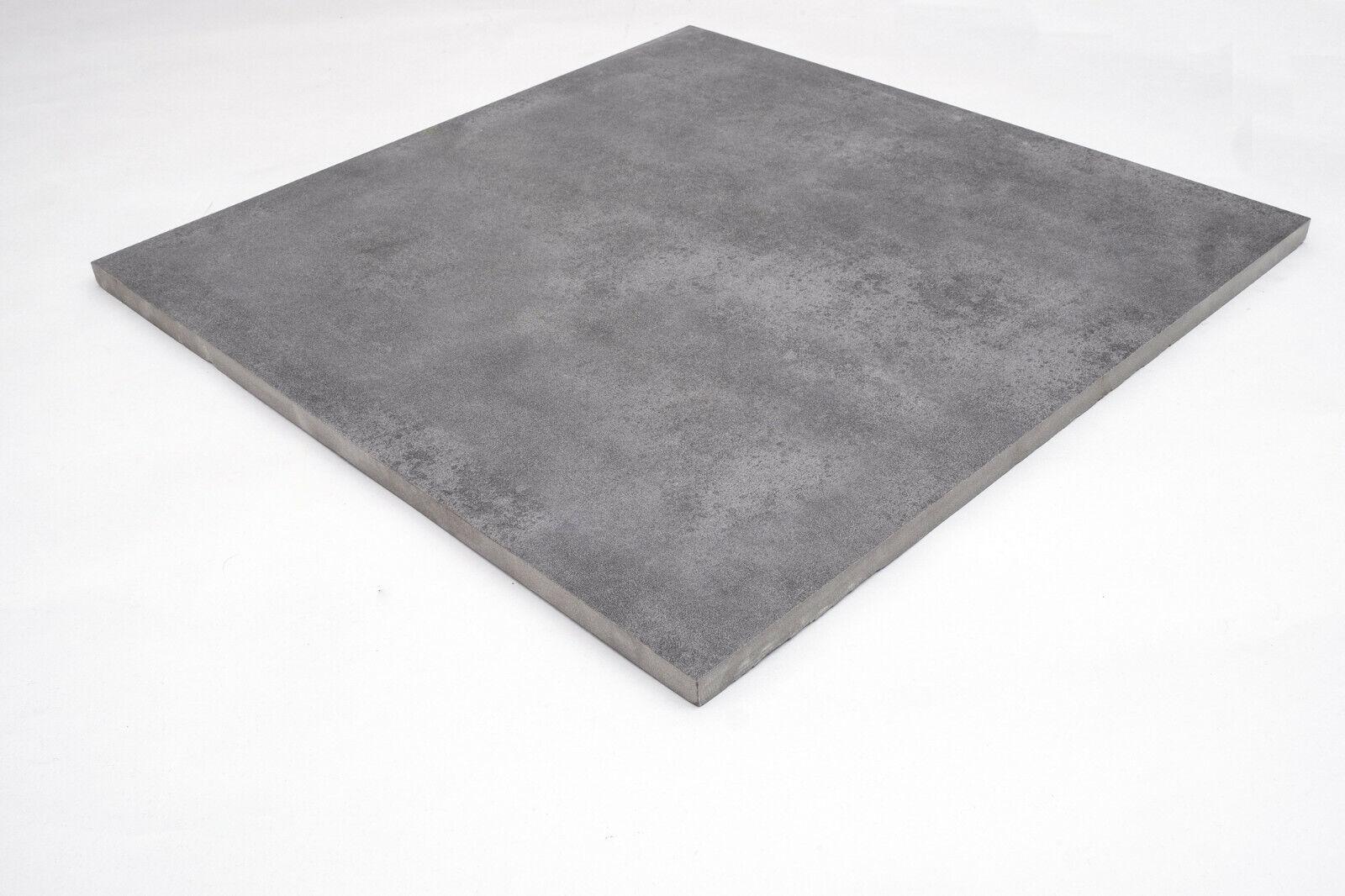 15m² Terrassenplatten Anthrazit 60x60cm Keramik Feinstein Stein Terrassenfliesen