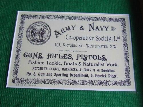 ARMY /& NAVY GUNMAKER Gun Case etichetta ACCESSORI PISTOLA Maker