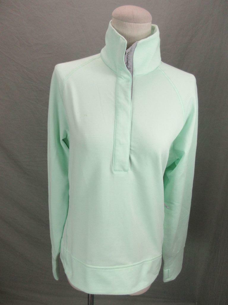 Mountain Hardwear Size S Womens Light Green Long Sleeve 1/2 Zip Pullover T021